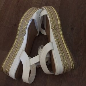 Shoes - White wedges - brand new !!